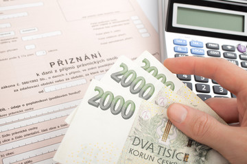 Czech tax form