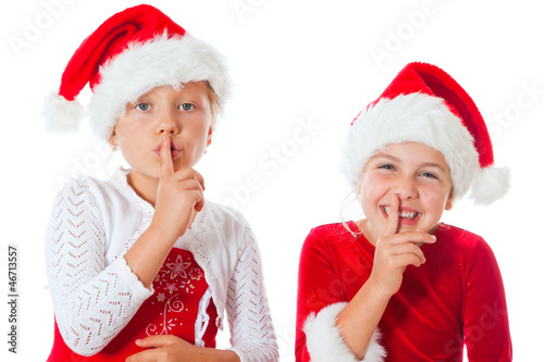 miss santas saying be quiet