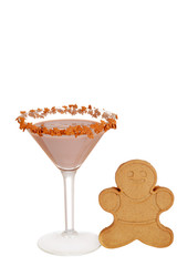Gingerbread martini with cookie