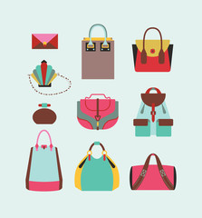 woman bags and purses collection