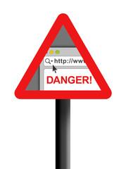 Internet danger warning sign