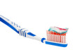 toothpaste with toothbrush isolated