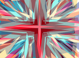 Religious cross starburst background
