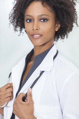 African American Female Woman Hospital Doctor