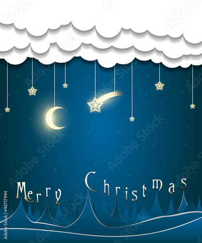 abstract creepy merry christmas card