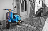 Boczna uliczka. Deliceto. Apulia. Włochy.