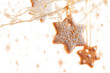 Typical christmas cinnamon star cookies