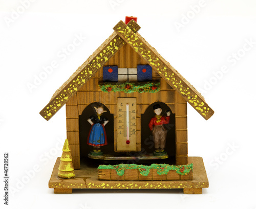 Traditional dutch weather house
