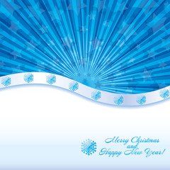 Blue christmas background, vector eps 10.0