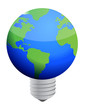 earth lightbulb
