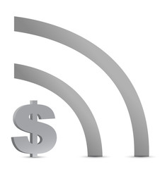 dollar wifi connection sign