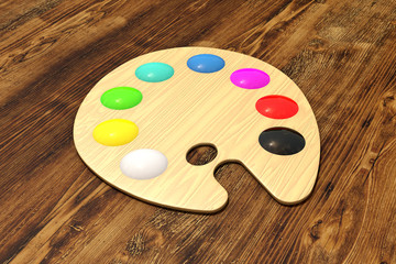 Wooden palette on wood