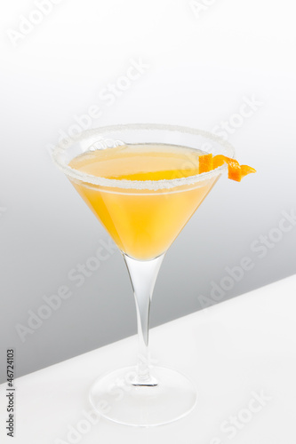 delicious cocktail served in tall glass