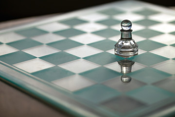 Pawn, chess piece - series: concept - small business growth,