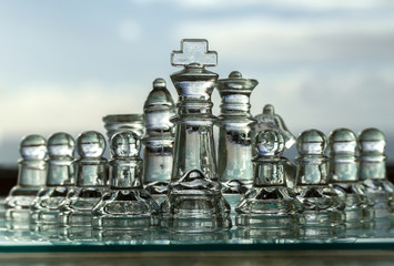 Chess Pieces - Business Concept - company, strategy, management.