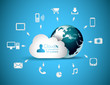 Cloud Computing concept background