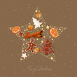 Vector Illustration of an Abstract Christmas Star