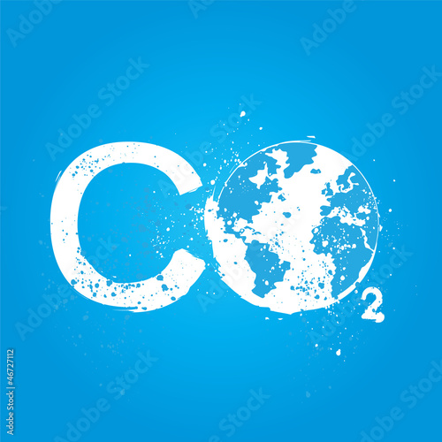 grunge CO2 concept
