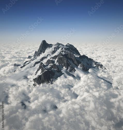 Fototapeten,schnee,pike,berg,auf