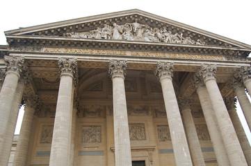 Pantheon entrance in Paris