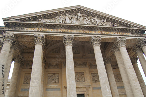 Pantheon entrance in Paris