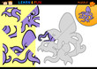 Cartoon octopus puzzle game
