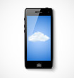 Mobile phone with cloud icon
