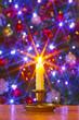Christmas candle and tree