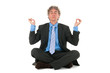 Business man in meditation