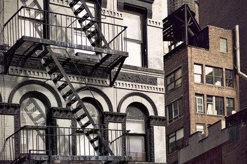 Metal fire escape