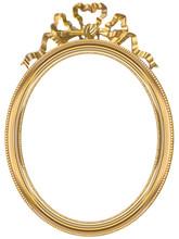 Cadre ovale doré, de style Louis XVI