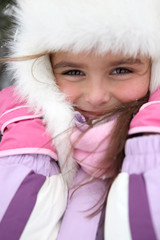 little girl wearing winter coat