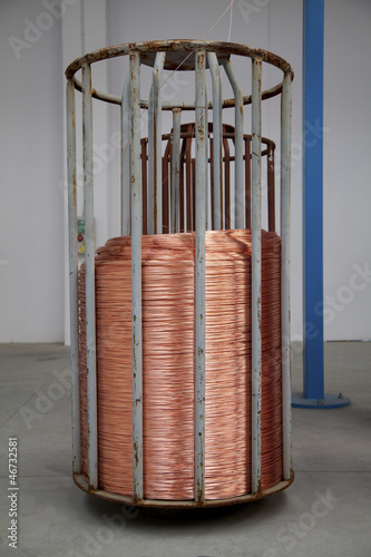 Copper wire spool