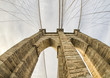 Magnificient structure of Brooklyn Bridge - New York City