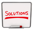 Solutions Word Written Dry Erase Board