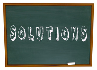 Solutions Chalkboard Chalk Word Answers New Ideas