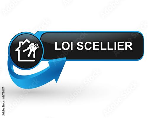 loi scellier sur bouton web design bleu