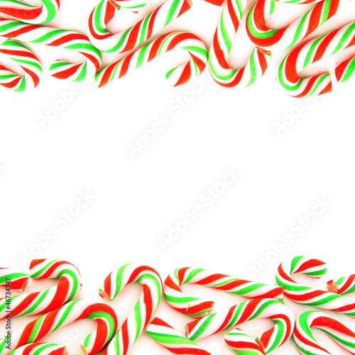 Double edge red and green candy cane border