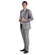 Businessman holding jacket