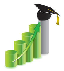 business graduation graph concept