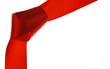 Rotes Band mit Knoten