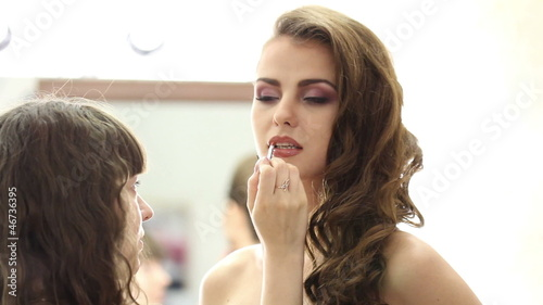 Professional face makeup for photo shooting