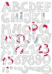 białe gwiazdki na szarym tle zestaw liter i cyfr