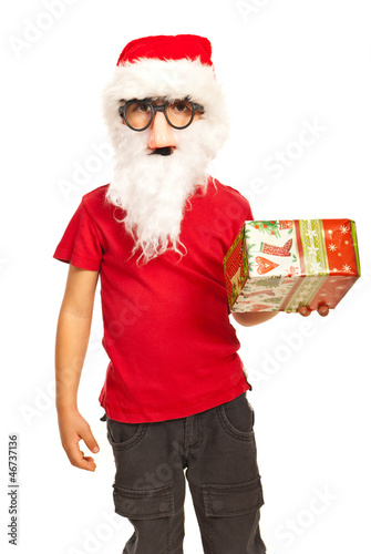 Xmas boy with mask and beard