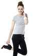 young leisure woman in casual clothing posing