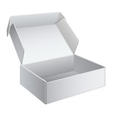 White Package Box Opened. For electronic device