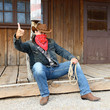 SOUTH WEST - A cowboy takes time to rest and reflect.