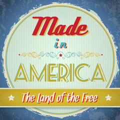 Vintage Made in America Sign - Vector EPS10