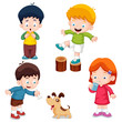 illustration of characters kids cartoon Vector
