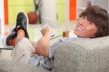 teen watching tv